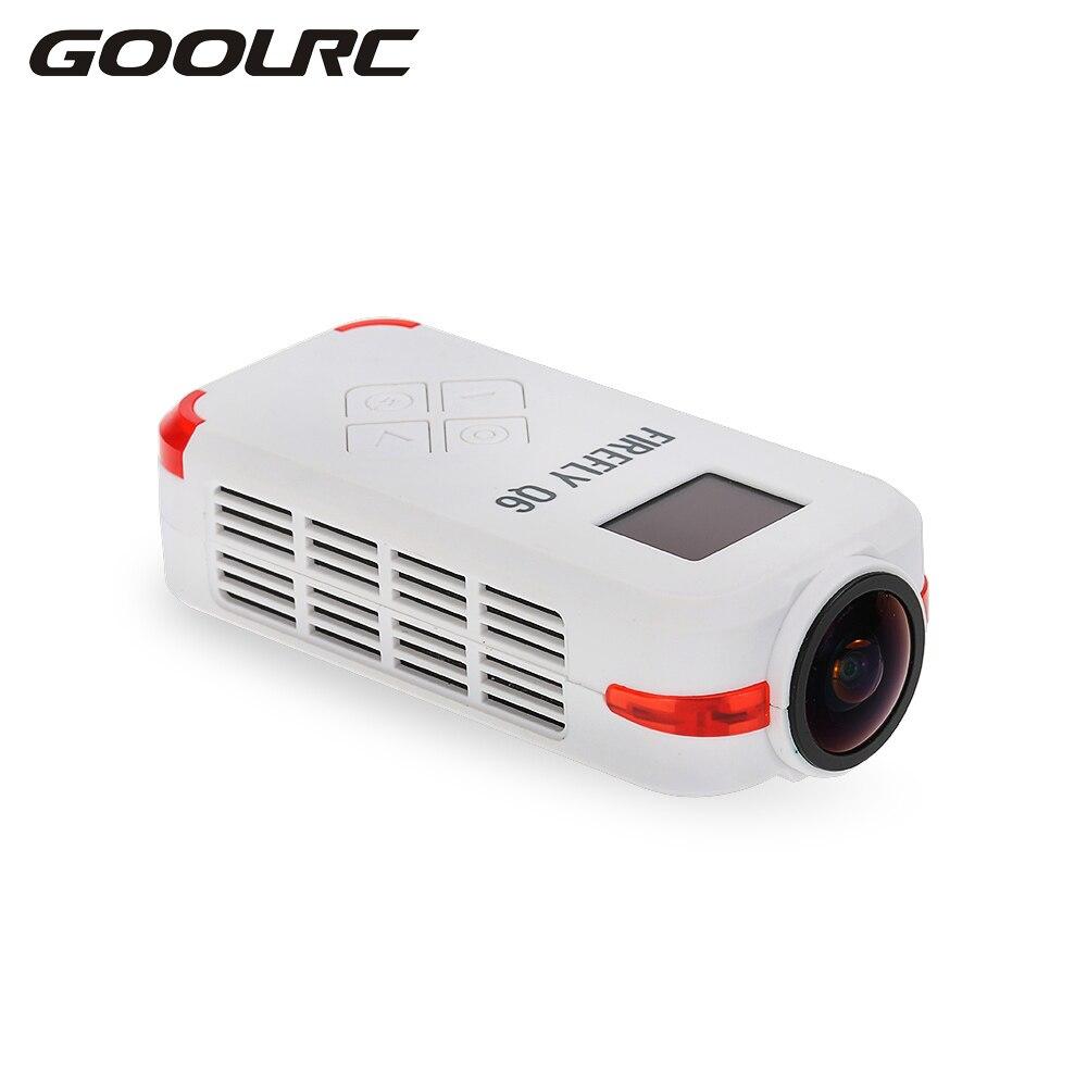 GOOLRC Firefly Q6 4 K HD FPV antena Camcorder 120 ancho ángulo de cámara de acción para ZMR250 QAV250 210 QAV180 Racing Drone