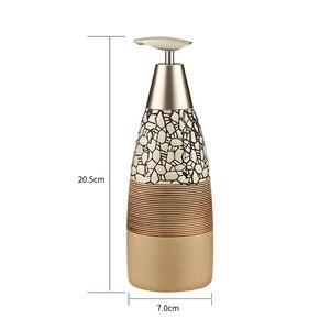 Image 2 - Conjunto de 4 piezas de accesorios de cerámica para baño de 100%, set de regalo para el baño, soporte para cepillo de dientes, vaso para jabón, incluye dispensador de jabón