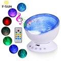 T-SUNRISE Ocean Wave Music Baby Night Light Projector Built-in Mini Music Player Lamp USB LED Night light for Baby Children Room