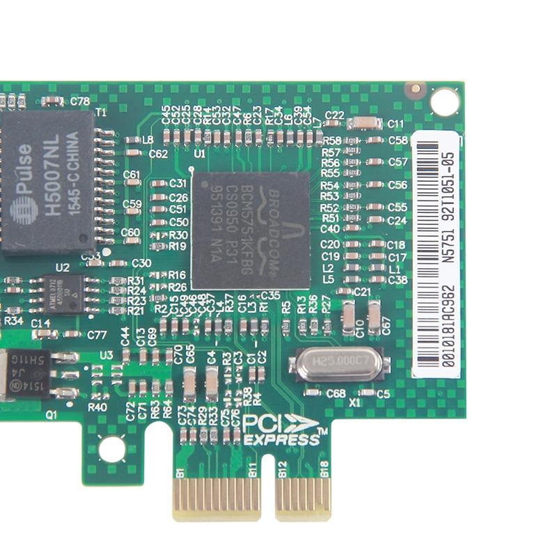 10Gtek BCM5751 Chip Gigabit Ethernet PCI-e Desktop Network Card NIC, - Kommunikationsutrustning - Foto 4