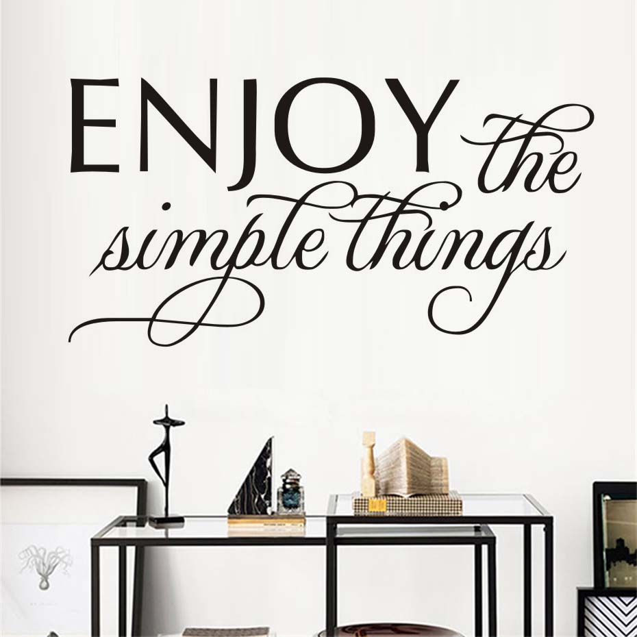 Enjoy The Simple Thing Wall Sticker Inspirational Life Quote Wall
