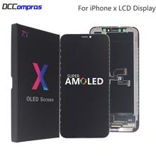 AMOLED Für iPhone X LCD Display XS XR Fest LCD Hohe Qualität Für iPhone X XS XR Xs Max Display weichen Bildschirm Ersatz Teile