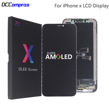 AMOLED Per iPhone X Display LCD XS XR Dura LCD di Alta Qualità Per il iPhone X XS XR Xs Max Display morbido Schermo Parti di Ricambio