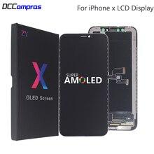 AMOLED dla iPhone X wyświetlacz LCD XS XR twardy LCD wysokiej jakości dla iPhone X XS XR Xs Max wyświetlacz miękkie części wymienne do ekranu