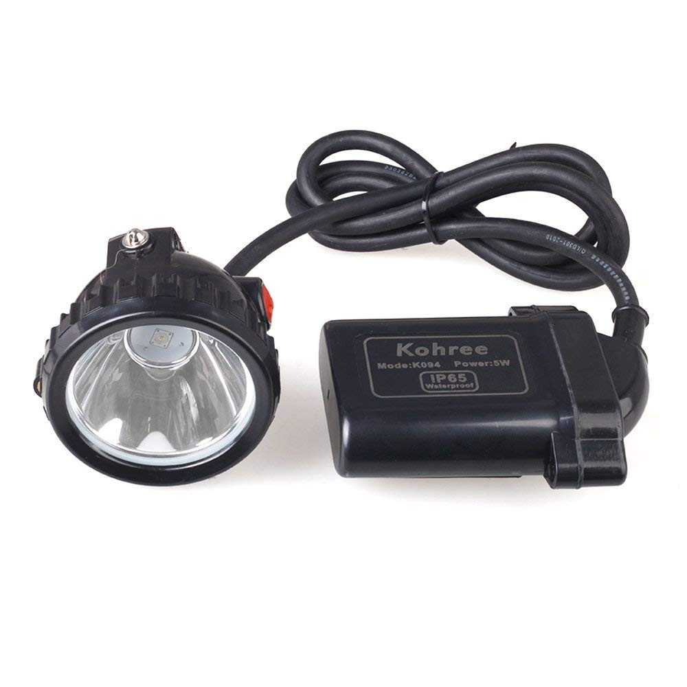 Kohree KL6LM 5W 3 7V Led Mining Head Light Chargeable Car Charger Headlamp Safety Lighting for