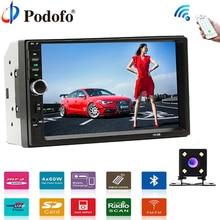 Podofo Стерео 12 В автомобиль радио тюнер 2 Din 7 «Touch Bluetooth мультимедийные Авто Аудио Авторадио MP5 USB поддержка заднего вида Камера