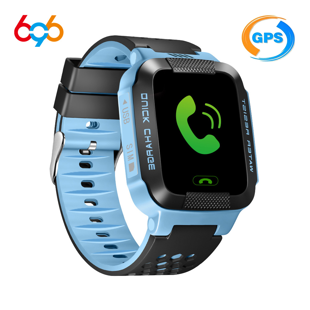 696 Y21G Children Smart Watch Real Time Security Tracker GPS/AGPS/LBS Life Waterproof Student GPS Tracking GSM SIM Card Call id