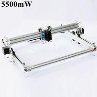 2015 Newest 5500mW 5 5W Desktop DIY Mini Laser Engraver Engraving Machine Etcher Assemble Kit Benbox