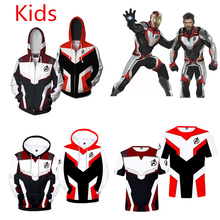 Kids Adults Cosplay Avengers 4 Endgame Quantum Realm Cosplay Costume Hoodies t-s