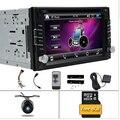 DVD Radio de coche universal Doble 2 Din Reproductor de DVD del autoradio Del Coche de Navegación GPS Unidad Principal Estéreo de vídeo + Free dos 2din gps Mapa de la cámara