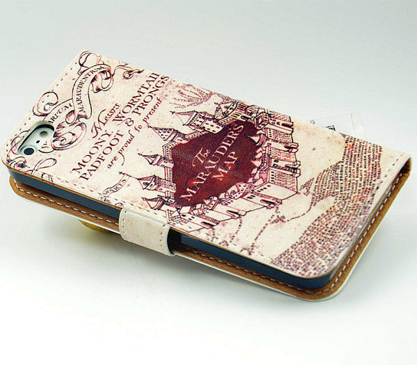 info for 7c6bc e0845 US $12.99 |Harry Potter Marauders Map Inspired Leather Wallet Flip Case For  Iphone 4 iphone 4S on Aliexpress.com | Alibaba Group