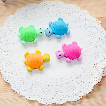 1 Pcs Creative Cartoon Big Turtle Student Eraser Student Stationery Wholesale Erasers Kawaii Cute Gifts image