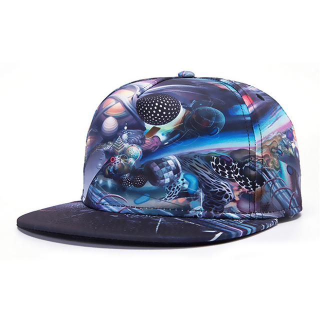 Super fashion Fantasy Street Dance hip hop cap Galaxy Pattern Space snap back adjustable hats WK0017