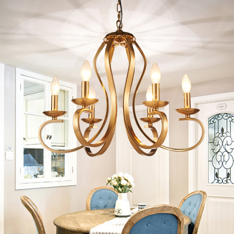 Telas Interior lámparas luminaria araña LED hierro luces sthdCxQr