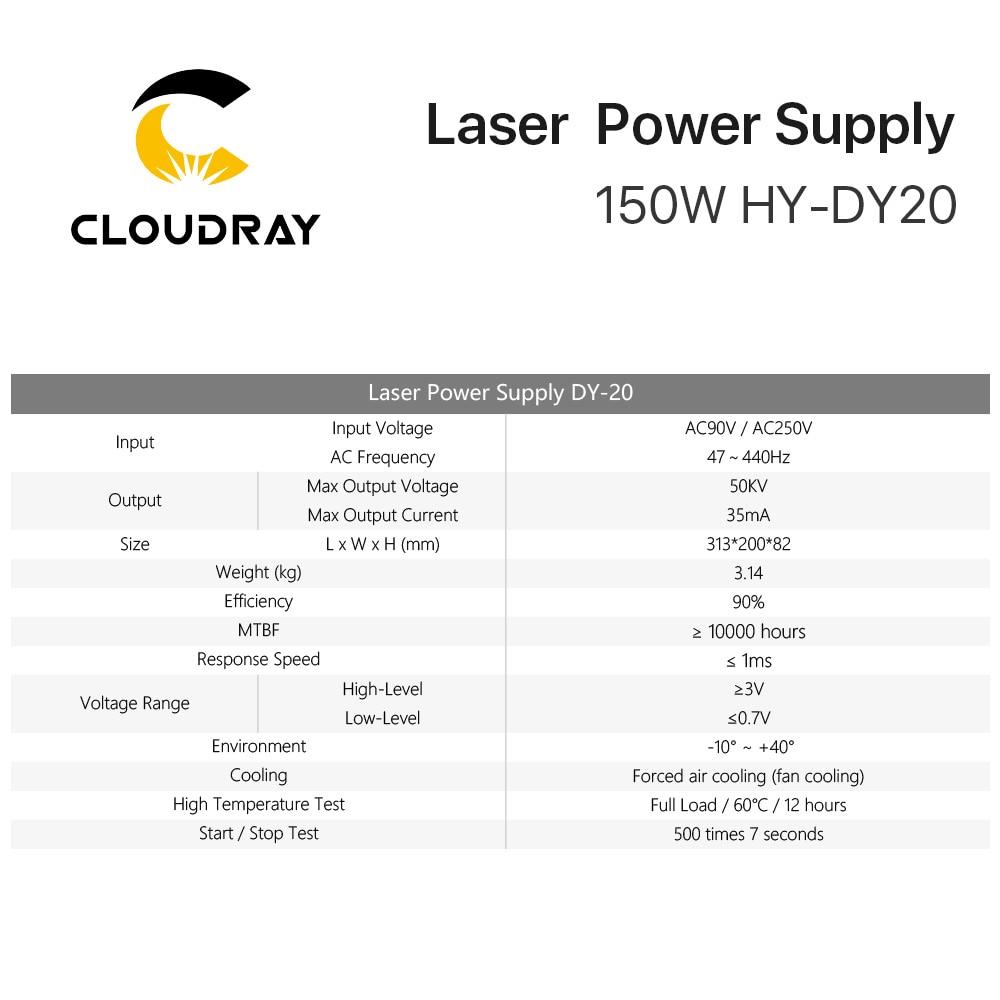 Cloudray DY20 Co2-laservoeding voor RECI Z6 / Z8 W6 / W8 S6 / S8 - Onderdelen voor houtbewerkingsmachines - Foto 6