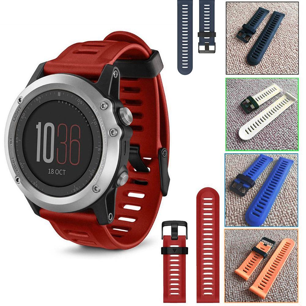 New Replacement Soft Silicone Strap Sports Watchbands Wristband For Garmin Fenix 3 Watch Accessories javrick silicone wristband bracelet band replacement for garmin vivoactive acetate watch sports watch watchbands accessories