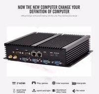 Безвентиляторный промышленный компьютер Win10 Core i7 5550U 2 * intel Gigabit LAN 6 * RS232 8 * USB Micro компьютер linux 3G Wi Fi 2 * HDMI
