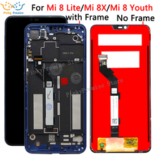 "6.26"" For Xiaomi Mi 8 Lite LCD Display Touch Screen Digitizer with frame Assembly Replacement For Xiaomi Mi 8 Youth 8 Lite lcd"