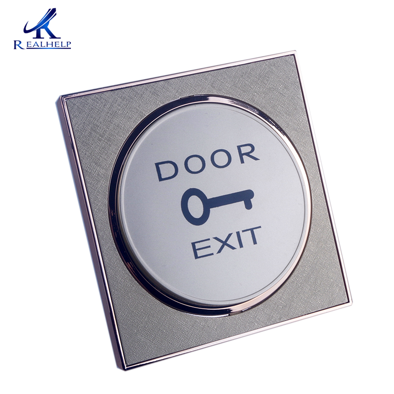 For Door Entry Systems Golden Door Exit Push Button Door Release Open Switch  For Access Control Cheap Single Door Access