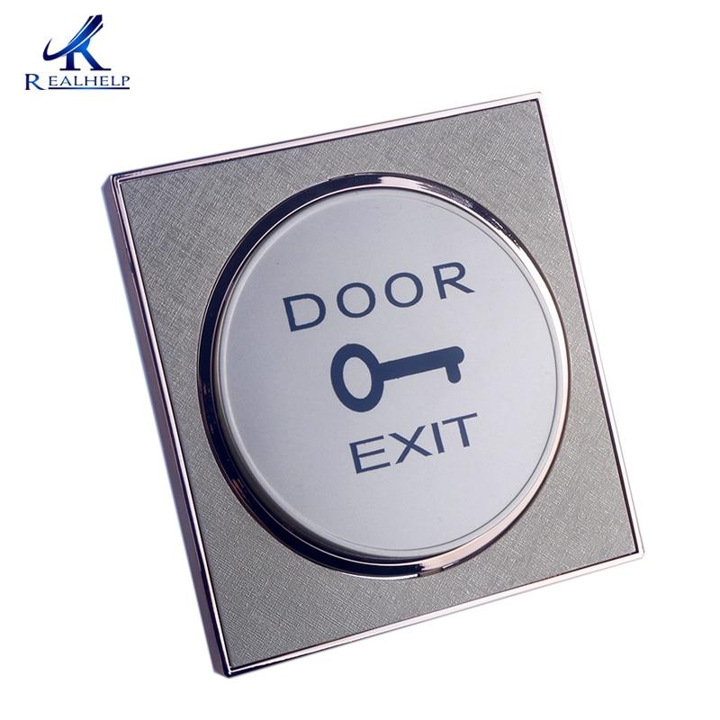 For Door Entry Systems Golden Door Exit Push Button Door Release Open Switch  For Access Control Cheap Single Door Access