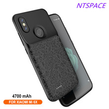 Extended Phone Battery Case 4700mAh Portable Backup Power Fast Charging Cover For Xiaomi Mi 6X Back Clip Battery Charger Cover