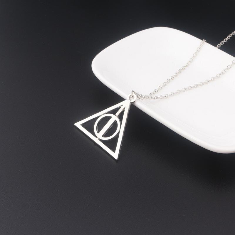 Популярное ожерелье RJ из фильма «HP Luna Deathly», подвеска «волшебник» с возможностью вращения Грегори, фидуциарный треугольник, мужское и женск...