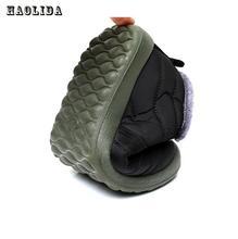 Waterproof Women Winter Shoes Couple Unisex Snow Boots Warm Fur Inside Antiskid Bottom Keep Warm Mother Casual Boots 35-44 Size