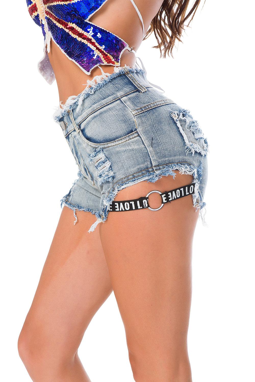 1ffff8cbbfe Sexy Bandage Tassel Denim Booty Shorts Vintage Cute Bikini Sexy Jeans  Shorts High Waist Micro Mini Short Sexy Culb Wear F33