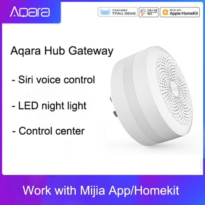 Original Mijia Aqara Hub Gateway with Led night light Smart work with For Apple Homekit International Edition Gateway Building Automation     - title=
