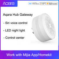 Puerta de enlace Original Mijia Centro aqara con luz Led de noche trabajo inteligente para Apple Homekit International Edition Gateway