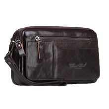 CHEER SOUL Fashion Genuine Leather Men Clutches Bag ID Card Holder