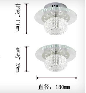 5W თანამედროვე LED- ით ჭერის - შიდა განათება - ფოტო 5