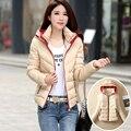 2016 nova cor sólida Magro grossa jaqueta casaco grandes estaleiros de moda feminina curto casacos