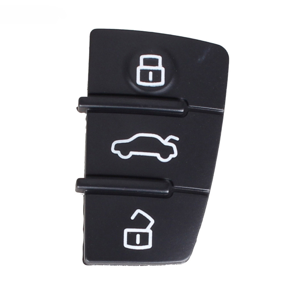 2pcs 3 Button Replacement Pad Rubber Remote Key Fob For Audi A3 A4 A5 A6 A8 Q5 Q7 TT S LINE RS Free Shipping