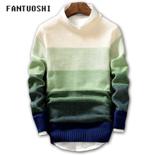 Мужской свитер, новинка, весна-осень, модный Повседневный свитер с круглым вырезом, приталенный вязаный мужской пуловер, свитер с длинным рукавом, пальто