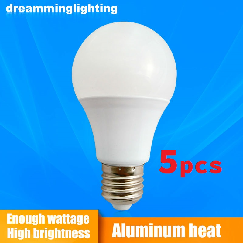 5xE27/B22 Led Lamps 110v/220v Light Aluminum base globe Down Lighting 3w 5w 7w 9w 12w 15w Cool Warm White Replacement Bulbs globe shaped aluminum shell precise compass