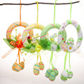 2016 New Multicolor  Decorative Wreaths Easter Bunny Froth Easter Egg Free Shipping