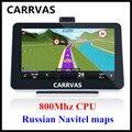 NUEVA LLEGADA de 5 pulgadas coche navegador GPS con pantalla táctil de 800 Mhz cpu 128 M RAM, incorporada de 4 GB con mapas de Navitel 9.1 2016 Rusia