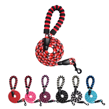 Dog Leash Colored Foam Handle Reflective Lead 1.5M Nylon Running For Small Medium Large Dogs Non-slip Durable