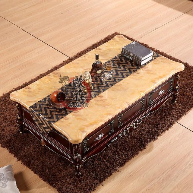 natural de mrmol mesa de caf mueble tv combinacin continental tallada encimeras de madera de roble