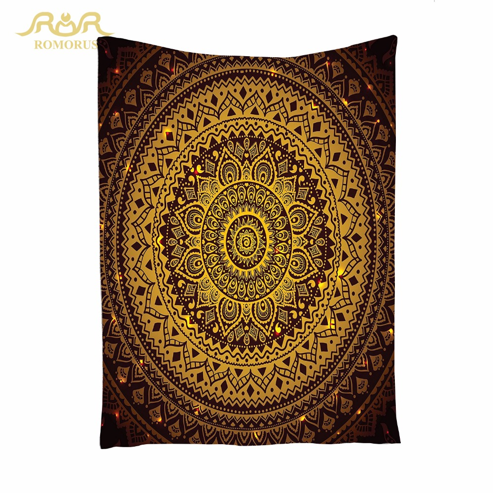 ROMORUS Indiase Mandala Tapestry Kwaliteit Bohemen Muur Opknoping - Thuis textiel