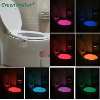 2018 8-Colors Motion Sensor Toilet Nightlight Home Toilet Bathroom Human Body Auto Motion Activated Sensor Seat Night Lamp vasos sanitários coloridos