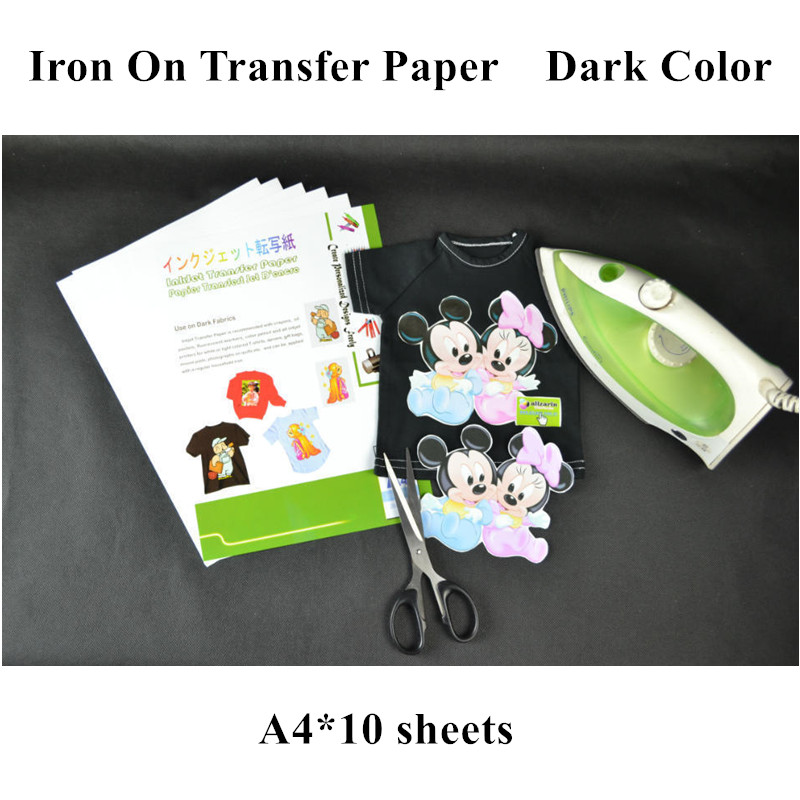 Image 2 - (A4*10sheets) Iron On Dark Inkjet Heat Transfer Paper for 100% Cotton Tshirts For Dark and Light Fabrics Papel Thermal Transferiron oniron on heat transferiron on transfer paper -