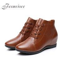2017 New Fall Genuine Leather Flat Heel Women Single Shoes Women S Casual Shoes Female Flats