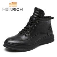 Генрих Лидер продаж Для мужчин британский стиль мода Мужская обувь из натуральной кожи Повседневное мужские ботинки на шнуровке высокие кр