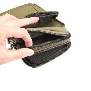 """Image 4 - Adam spor kemer klipsi bel paketi rahat eğimli omuz çantası telefon kapak cüzdan kılıf Iphone Samsung için Huawei için hepsi 7"""""""