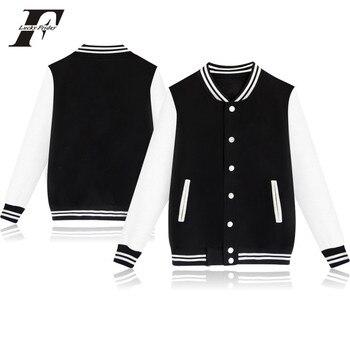 LUCKY FRIDAYF  Baseball coat Women/men Sweatshirt College Sportswear Jacket Jacket k-pop Casual solid color Pullovers XXXXL