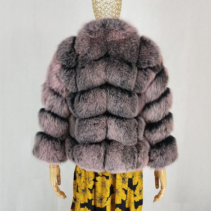 cou D'hiver 2019 Chaud Manteau Pelt Fourrure Parka De Naturel Fox Renard Luxe Silver Veste Vêtements Femmes Nouvelles Réel Épais 1 O Mode cwqqPOyv