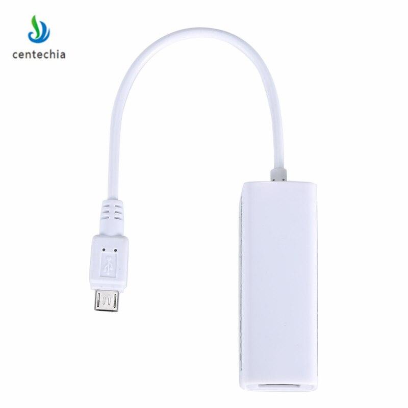 Centechia проводной сетевые карты OTG USB 2,0 концентратор 10/100 MB Micro USB к RJ45 сетевой адаптер сетевой карты для планшетного компьютера