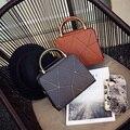 Бесплатная доставка, 2017 новая женщина сумки, тенденция досуг сумка, простой Корейской версии женщины сумку, ретро геометрические лоскут.